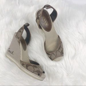 Coach Tawney Wedges